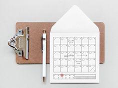 Calendar Rubber Stamp