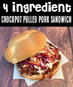 Crockpot Pulled Pork - Easy Dr Pepper BBQ Recipe! This easy sandwich prepared in your slow cooker serves up pulled pork perfection every time. And you won't believe how EASY it is to make, too! Go grab the recipe and give it a try this week! Delicious Crockpot Recipes, Crockpot Meals, Pork Recipes, Slow Cooker Recipes, Cooking Recipes, Easy Summer Meals, Quick Meals, Summer Recipes