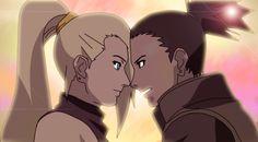 ino and shikamaru | Shikamaru and Ino - Sunset by ShikaInoChoLove
