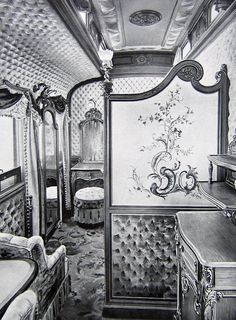 A dressing room in the Imperial Train