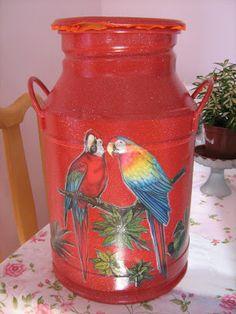 casa de fifia blog de decoração : latão de leite antigo pintado