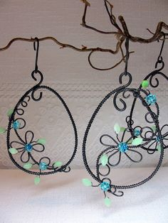 Wire Crafts, Decor Crafts, Wire Art, Suncatchers, Bead Art, Wire Wrapping, Easter Eggs, Washer Necklace, Wraps