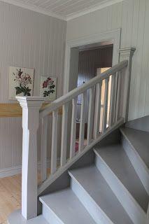 Häromdagen tyckte Martin det var dags att göra trappräcket till den nedre delen av trappan. Den här skivan ser verkligen inte fin ut, m... Painted Stairs, House By The Sea, Top Toys, New Living Room, Design Thinking, Entrance, New Homes, Home And Garden, Inspiration