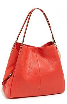 COACH  Small Madison Phoebe  Leather Shoulder Bag  dab15297ac5b1