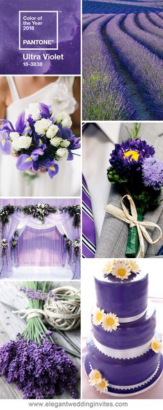 ultra violet wedding ideas for 2018 trends