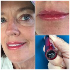 """What girl doesn't put on her """"Sappy"""" lip stain before a run???  Hmmmm? Day 2 of Stiff Upper Lip Stain test. #makeup #lipstain #lips #cosmetics #running #fitness #natural #crueltyfree"""
