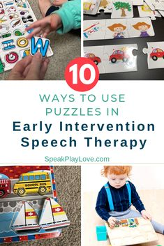 toy activities How to use puzzles as early intervention speech therapy activities. Including recommended puzzles for toddlers, babier and preschoolers. Early Learning Activities, Language Activities, Infant Activities, Preschool Activities, Preschool Learning, Shape Activities, Articulation Activities, Children Activities, Motor Activities