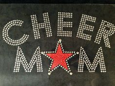 Cheer Mom Red Star Rhinestone Transfer Iron On DIY >>> Be sure to check out this awesome product.