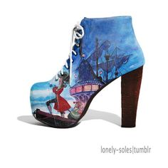 LONELY-SOLES ❤ liked on Polyvore featuring shoes, disney and boots