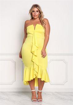 ddcd98a08e389 15 Best yellow plus size dresses images