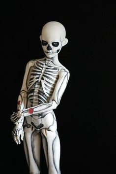 """""""Skeleton Boy"""" Doll By Kittytoes"""