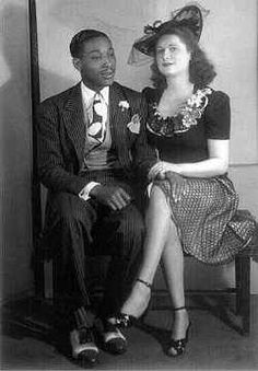 Mixed race couple 1946