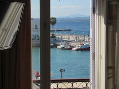 Alexandris Hotel GuestRooms: The six (6) front rooms face the magnificent view of the harbor of Dapia, the central port of Spetses. Double Glazed Window, Front Rooms, Windows, Warm, Island, Decor, Decorating, Islands, Decoration