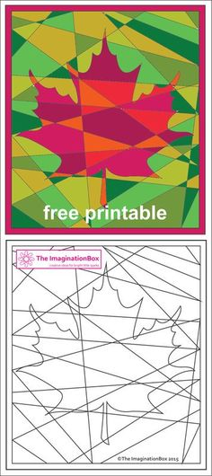 The ImaginationBox free printables: explore the russets and golds of Fall/Autumn. - The ImaginationBox free printables: explore the russets and golds of Fall/Autumn with this hidden maple leaf coloring sheet The ImaginationBox free pr. Fall Art Projects, School Art Projects, Projects For Kids, Art School, Craft Projects, Craft Ideas, Autumn Crafts, Autumn Art, Autumn Activities