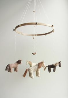 baby crib mobile horses