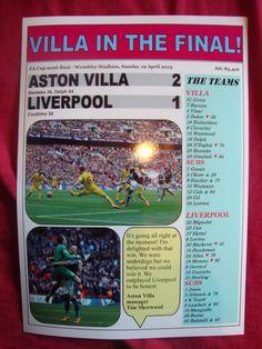 Aston Villa 2 Liverpool 1 - 2015 FA Cup semi-final - souvenir print f1b97dd943556