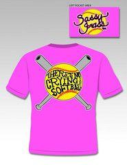 Sassy Frass Funny Softball No Crying Sweet Bright T Shirt | SimplyCuteTees