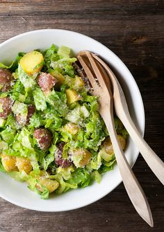 Jazz up your potato salad by giving it a Caesar salad treatment!