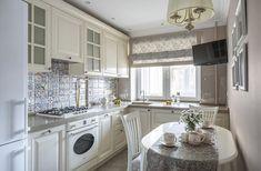 кухня классическая с шторами