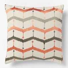 Embroidered Chevron Lattice Pillow Cover - Bergamot #westelm - 20 in, $39