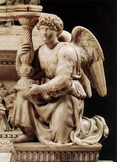 Angel with Candlestick Michelangelo Date: 1495; Castel Guelfo / Castel Guelfo Di Bologna, Italy