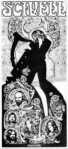 Jim Fitzpatrick Gallery Alan Stivell 1974. Poster. Pen and ink drawing. Poster for Breton genius Alan Stivell for a concert in Parc des Princes in Paris back in 1974