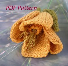 PDF Knit Flower Pattern  Poppy Knit Flower by OhmayDIY on Etsy