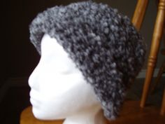 Crochet Grey Shades Soft Boucle Brimmed Hat   kniftyhooksneedles - Accessories on ArtFire