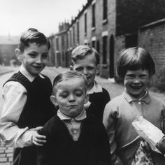 Children in the Street - Wigan, 1961 by Shirley Baker Famous Photographers, Street Photographers, Shirley Baker, Blackpool Beach, Kids Laughing, Street Portrait, Black And White Prints, Bw Photography, Working Class
