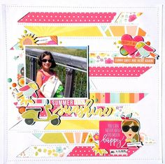 Summer+Fun+Sunshine - Simple Stories - Sunshine and Happiness Collection