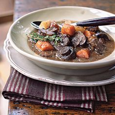 101 Healthy Soup Recipes | Basic Beef Stew with Carrots and Mushrooms | CookingLight.com