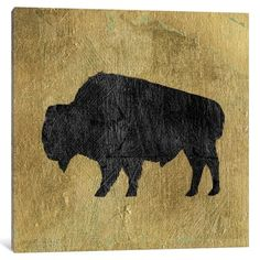 East Urban Home 'Golden Lodge II' Graphic Art Print on Canvas Size: