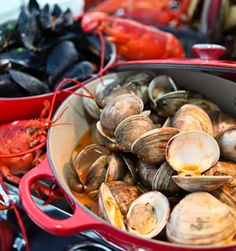 Clam Bake on Pinterest | Clams, Clambake Party and Lobsters