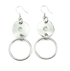 """-SIMPLE CIRCLE- """"Polished, hammered discs linked to simple silver hoops are a stylish accent to the Perfect Circle and Simplicity necklaces, or even the more daring Posh necklace."""" http://LMAWBY.mialisia.com"""