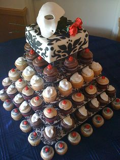 """Phantom of the Opera"" cupcakes."