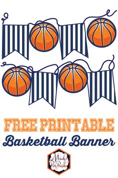 Go Crazy with March Madness Free Printables Go crazy with March Madness and these FREE PRINTABLES from Mandy's Party Printables. Get a free printable bracket and a basketball banner. Basketball Decorations, Girls Party Decorations, Party Themes, Party Ideas, Diy Ideas, Diy Party, Basketball Birthday Parties, Basketball Party Favors, Soccer Party