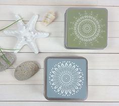 Set of 2 Mandala gift boxes for new house. Unique #housewares #office @EtsyMktgTool http://etsy.me/2ik6iga