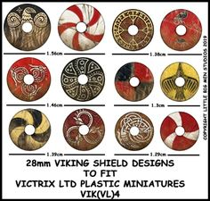Viking Shield Designs (Little Big Men) Viking Shield Design, Vikings, Medieval, Norman Conquest, Space Wolves, Viking Art, Anglo Saxon, Toy Soldiers, Tabletop Games