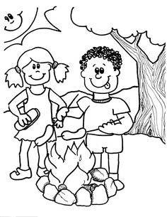 colorwithfun.com - Camping Coloring Pages For Kids