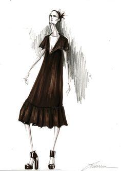 Fashion illustration by Lara Wolf #marker #fashion #illustration