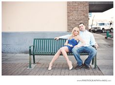engagement photo, plenty of space for content