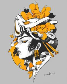 Discover recipes, home ideas, style inspiration and other ideas to try. Japanese Drawings, Japanese Tattoo Designs, Japanese Tattoo Art, Japan Tattoo Design, Body Art Tattoos, Tattoo Drawings, Art Drawings, Samurai Art, Japan Art