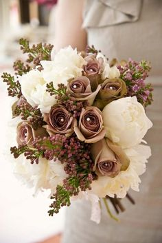 Exactly flower by flower the bouquet I want. Lilacs, amnesia roses, and peonies