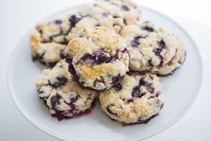 Classic English Scones made with beautiful blueberries. A stunning and simple breakfast or brunch. Slightly sweet, absolutely splendid with butter or a dollop of cream. Blueberry Oatmeal Cookies, Blueberry Scones, Blueberry Recipes, Blueberry Juice, Easy Desserts, Dessert Recipes, Breakfast Recipes, Baking Desserts, Breakfast Muffins