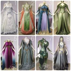 """""""You awaken in your intricately carved bed and push aside the silken sheets, yawning. Your handmaiden bows and greets you with a warm 'Good Morning Elven Princess!' You rub the sleep from your eyes to see an arrangement of gowns she's laid out for you to choose from... Which one shall you wear today?"""" #fireflypath"""