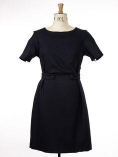 Kirby Dress Pennington Blue Black SWD14