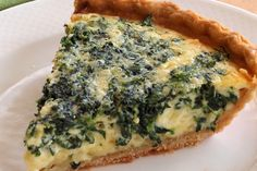 Spinach Gruyere Quiche from Once Upon a Chef