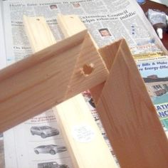 Make Your Own Picture Frame for $5 using stretcher bars from the art supply store.