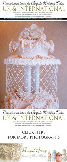 glamorous luxury bespoke society wedding celebrity cake maker