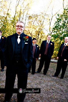 Scenic Photo Opp of Groomsmen {Photo by Jessica Monnich Photography}